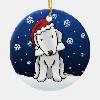 Navidad de Bedlington Terrier del dibujo animado d Ornaments Para Arbol De Navidad