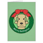 Navidad de Bedlington Terrier Tarjeta