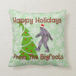 Navidad de Bigfoot Almohada