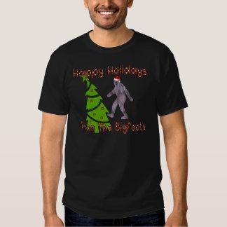 Navidad de Bigfoot Camisas