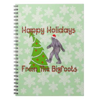 Navidad de Bigfoot Libro De Apuntes