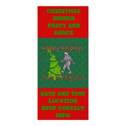 Navidad de Bigfoot Lona