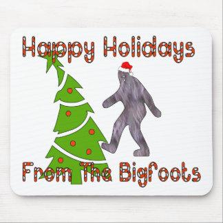 Navidad de Bigfoot Alfombrillas De Raton