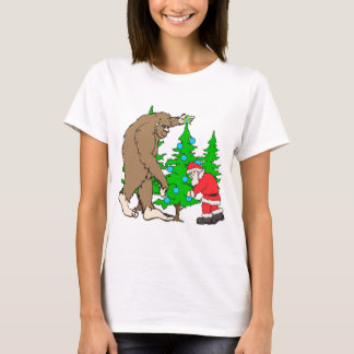 Navidad de Bigfoot y de Santa Playera