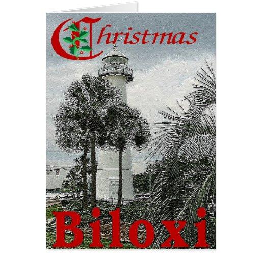 Navidad de Biloxi Tarjeta De Felicitación