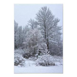 Navidad de blanco puro de Windsor Invitación