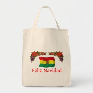 Navidad de Bolivia Bolsa Tela Para La Compra