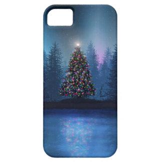 Navidad de Borealis de la aurora iPhone 5 Case-Mate Carcasa