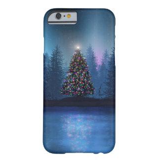 Navidad de Borealis de la aurora Funda De iPhone 6 Barely There