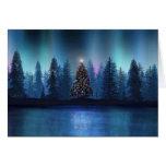 Navidad de Borealis de la aurora Tarjeta