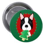 Navidad de Boston Terrier Pins