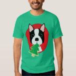 Navidad de Boston Terrier Playeras