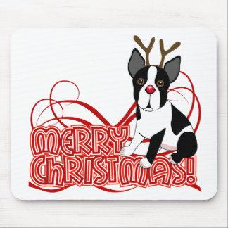 Navidad de Boston Terrier Alfombrilla De Ratones