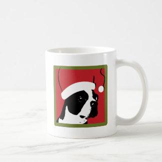 Navidad de Boston Terrier Taza Clásica