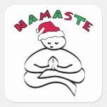 Navidad de Buda Pegatina Cuadrada