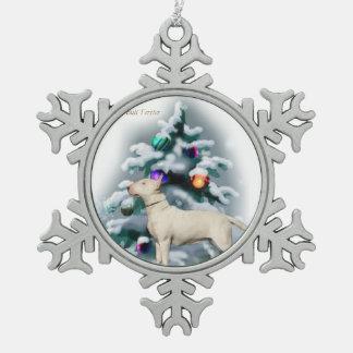 Navidad de bull terrier adorno