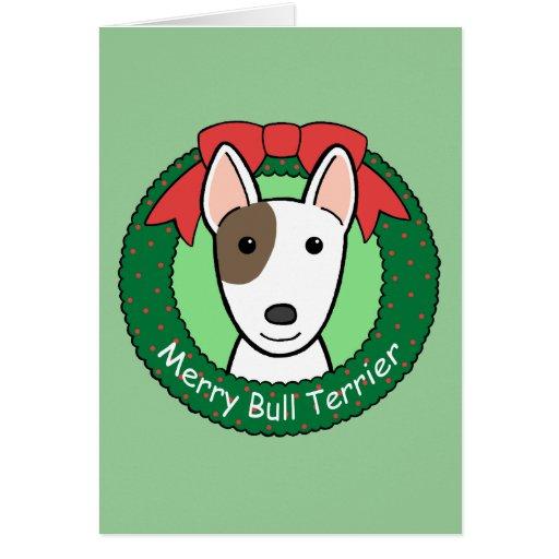 Navidad de bull terrier felicitacion