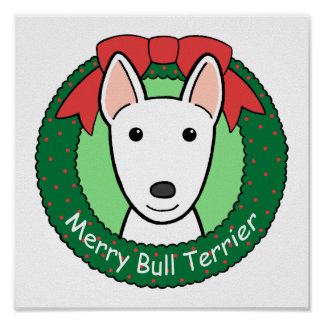 Navidad de bull terrier poster