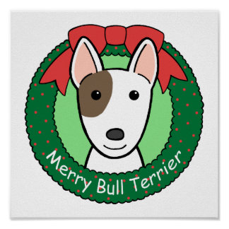Navidad de bull terrier posters