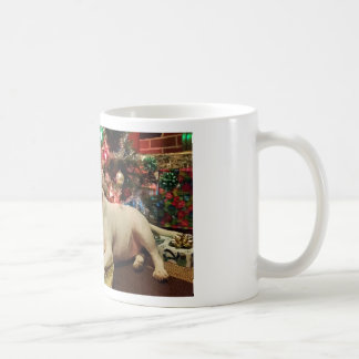 navidad de bull terrier taza
