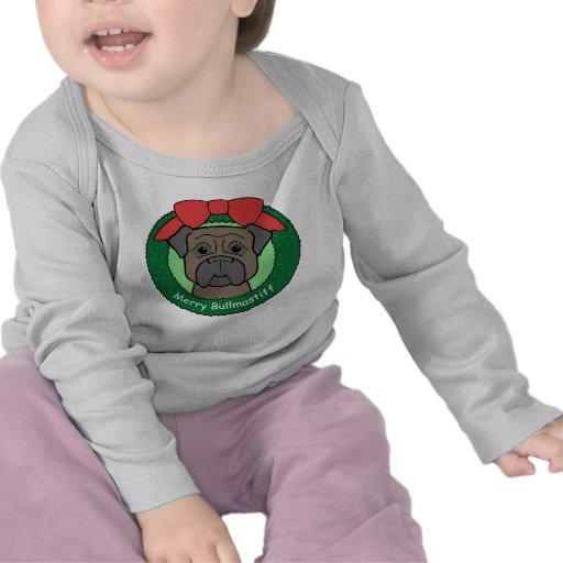 Navidad de Bullmastiff Camisetas