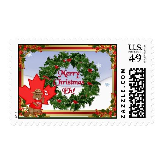 Navidad de Canadá que saluda Sello Postal