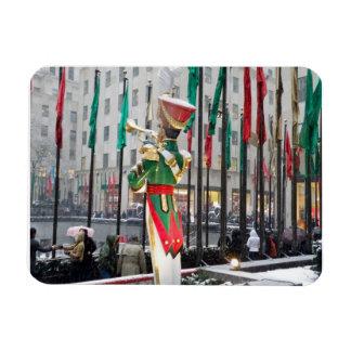 Navidad de centro de Rockefeller Iman Rectangular