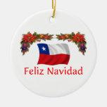 Navidad de Chile Adorno Redondo De Cerámica