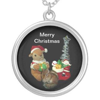 Navidad de Chimunks, ardilla. シマリスのクリスマス Colgante Redondo