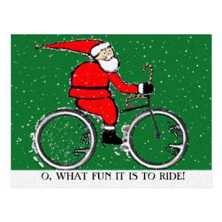 Navidad de ciclo postales