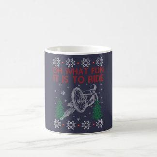 Navidad de ciclo taza de café