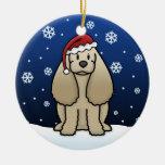 Navidad de cocker spaniel del dibujo animado de adorno de navidad