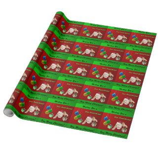 Navidad de cocker spaniel papel de regalo