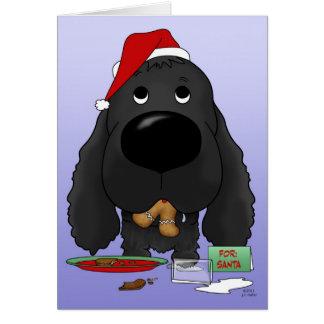 Navidad de cocker spaniel tarjeta
