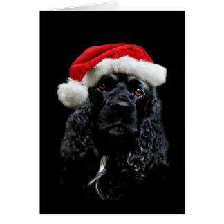 Navidad de cocker spaniel tarjeta de felicitación