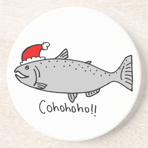 Navidad de Cohohoho de color salmón Posavasos Cerveza