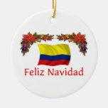 Navidad de Colombia Adorno Redondo De Cerámica