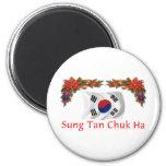 Navidad de Corea Imán De Nevera