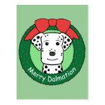 Navidad de Dalmation Postal