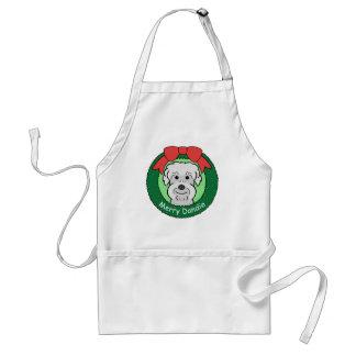 Navidad de Dandie Dinmont Terrier Delantales