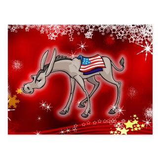 Navidad de Demócrata Tarjetas Postales