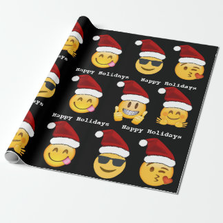 Navidad de Emoji Papel De Regalo