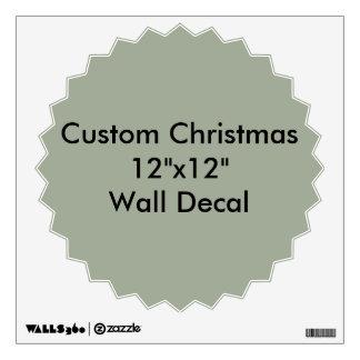 """Navidad de encargo 12"""""""" etiqueta de la pared X12 Vinilo Decorativo"""