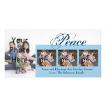 Navidad de encargo de la paz o tarjetas de la foto tarjetas fotográficas personalizadas