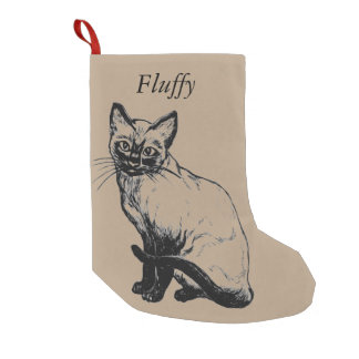 Navidad de encargo del gato que almacena - añada bota navideña pequeña