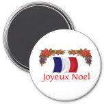 Navidad de Francia Imán Redondo 7 Cm