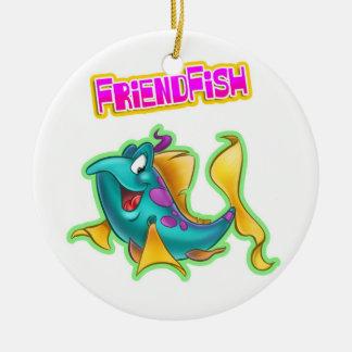 Navidad de FriendFish Adorno Navideño Redondo De Cerámica