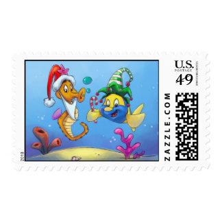 Navidad de FriendFish Sello Postal