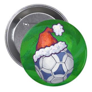Navidad de Futbal Pin Redondo 7 Cm