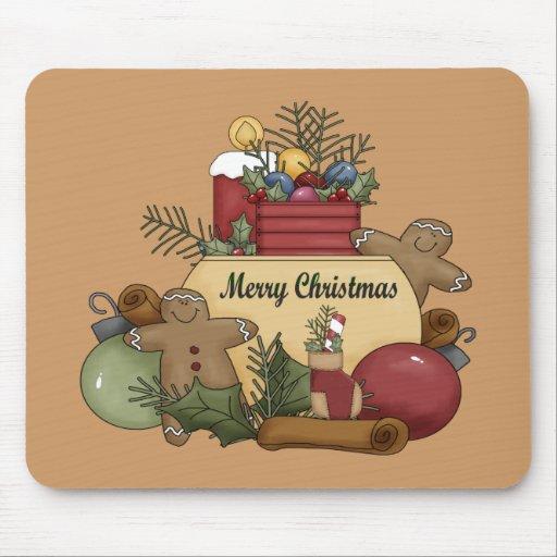 Navidad de Gingerman Tapetes De Ratones